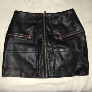 kendall & kylie faux leather skirt